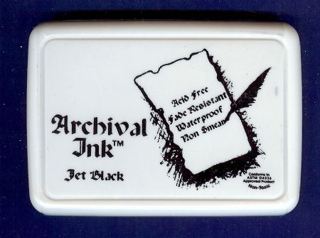 Archival Jet Black Ink Pad from Ranger